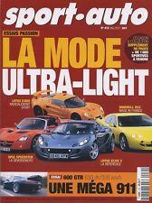 SPORT AUTO n°472 Mai 2001*PORSCHE 911 600 GTR HOMMELL RS2 LOTUS EXIGE ELISE 2