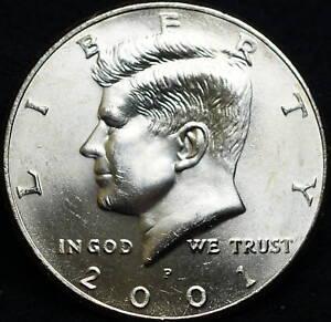 2001 P/&D 50C Kennedy Half Dollar Roll Set Uncirculated