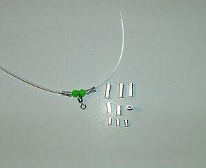 GHIERETTE-ALLUMINIO-100-pz-1-4-X-13-mm-TUBINI-pesca-palamito-coffa-surf-casting