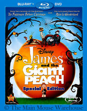 Disney Stop-Motion Animation Roald Dahl James and the Giant Peach Blu-ray & DVD