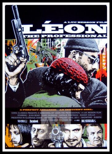 Leon 3  Poster Greatest Movies Classic /& Vintage Films