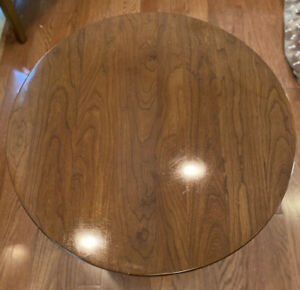 """HIGH QUALITY  STICKLEY Fayetteville Cherry 24"""" Round Pedestal Table , 26"""" High"""