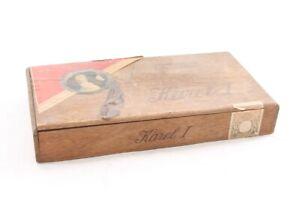 Old-Cigarette-Box-Collector-Advertisement-Advertising-Vintage-Karal-I-1-Wood