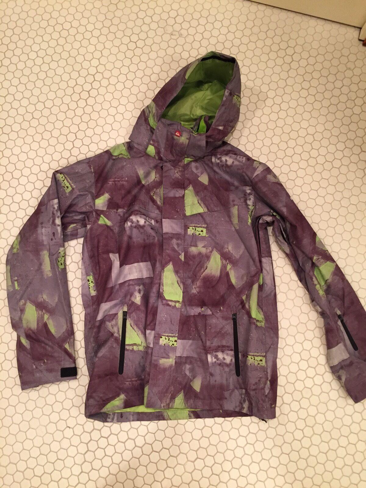 QuikSilber Sie Snowboard Jacket Outerwear Jacket Camo - Größe M - Removable Hood