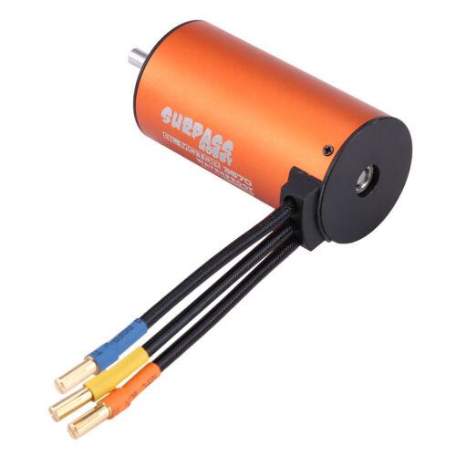 Hi-efficiency 3670 1900KV 4 Poles 5mm Sensorless Brushless Motor for 1//8 RC Car