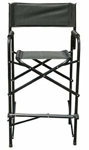 Image Is Loading Tall Directors Chair Black Aluminum Frame Folding Chair