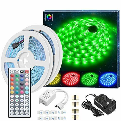 Minger LED Strip Lights Kit 10m in Total 5050 RGB 300led Non-waterproof 2x5m