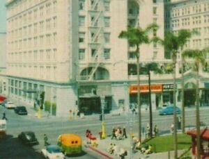 Vintage-c1950s-Postcard-San-Diego-CA-U-S-Grant-Hotel-Horton-Plaza-California