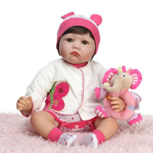 22/'/' New Handmade Vinyl Silicone Reborn Baby Dolls Lifelike Doll Girl Gift