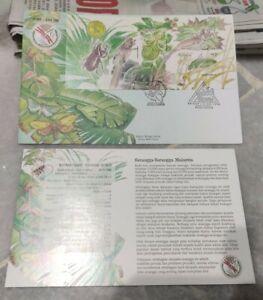 Rare 1998 Malaysia Stamp Week Serangga Insect Imperf Stamp Sheet FDC