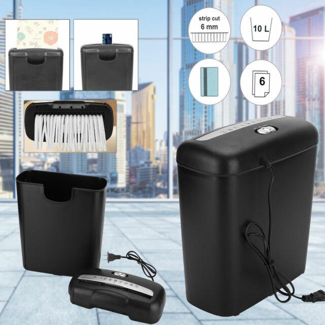 New 6-sheet Strip Cut Electric Paper Shredder Home Office