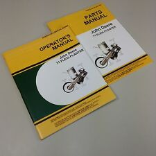 SET JOHN DEERE 71 FLEXI PLANTER OWNERS OPERATORS PARTS MANUAL CATALOG CORN SEED