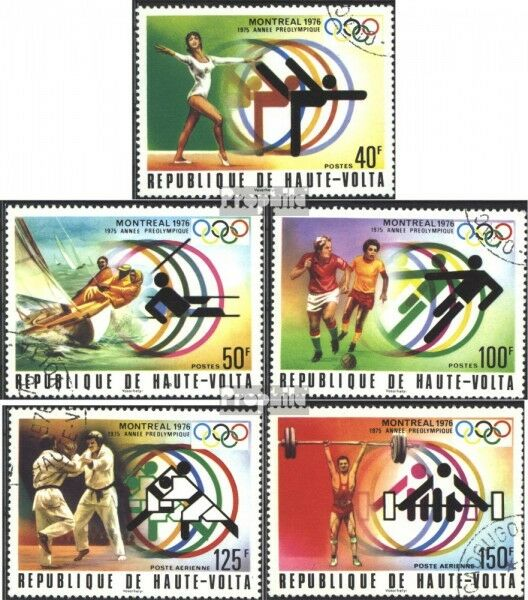 Upper Volta 611-615 (complete issue) used 1976 Olympics Games ´