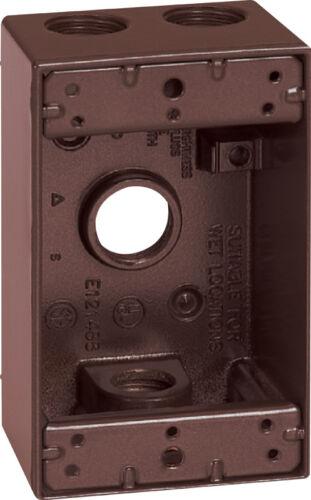 Sigma Electric  4-1//2 in Rectangle  Metallic  1 gang Weatherproof Box  Bronze