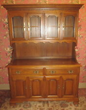 Tanbark Oak China Cabinet Half Glass 54 Wide by Tell City Chair ...