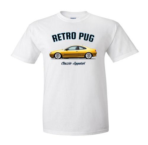 PEUGEOT 406 Coupé T-Shirt Modified Pininfarina. Retro Carlin Classique Voiture