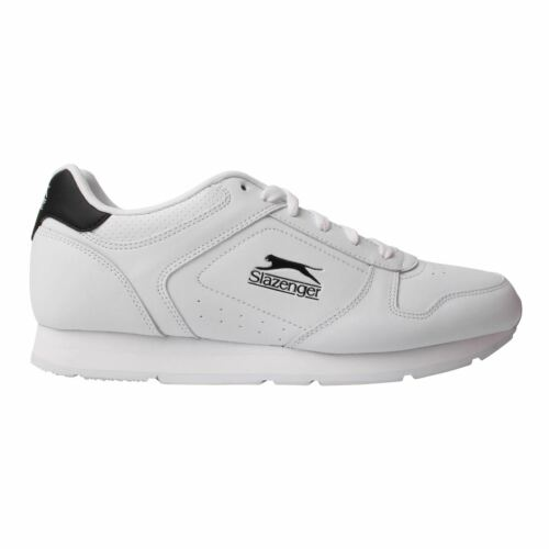 Slazenger Mens Classic Trainers Lace Up Low Top Leather Sports Shoes EVA Midsole