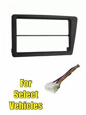 Double Din Stereo Radio Install Dash Car Face Kit Combo for 02-05 Honda Civic SI