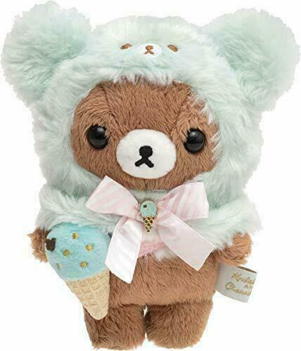 Chairoikoguma Plush Doll Chocolate Mint Ice San-X Japan Rilakkuma