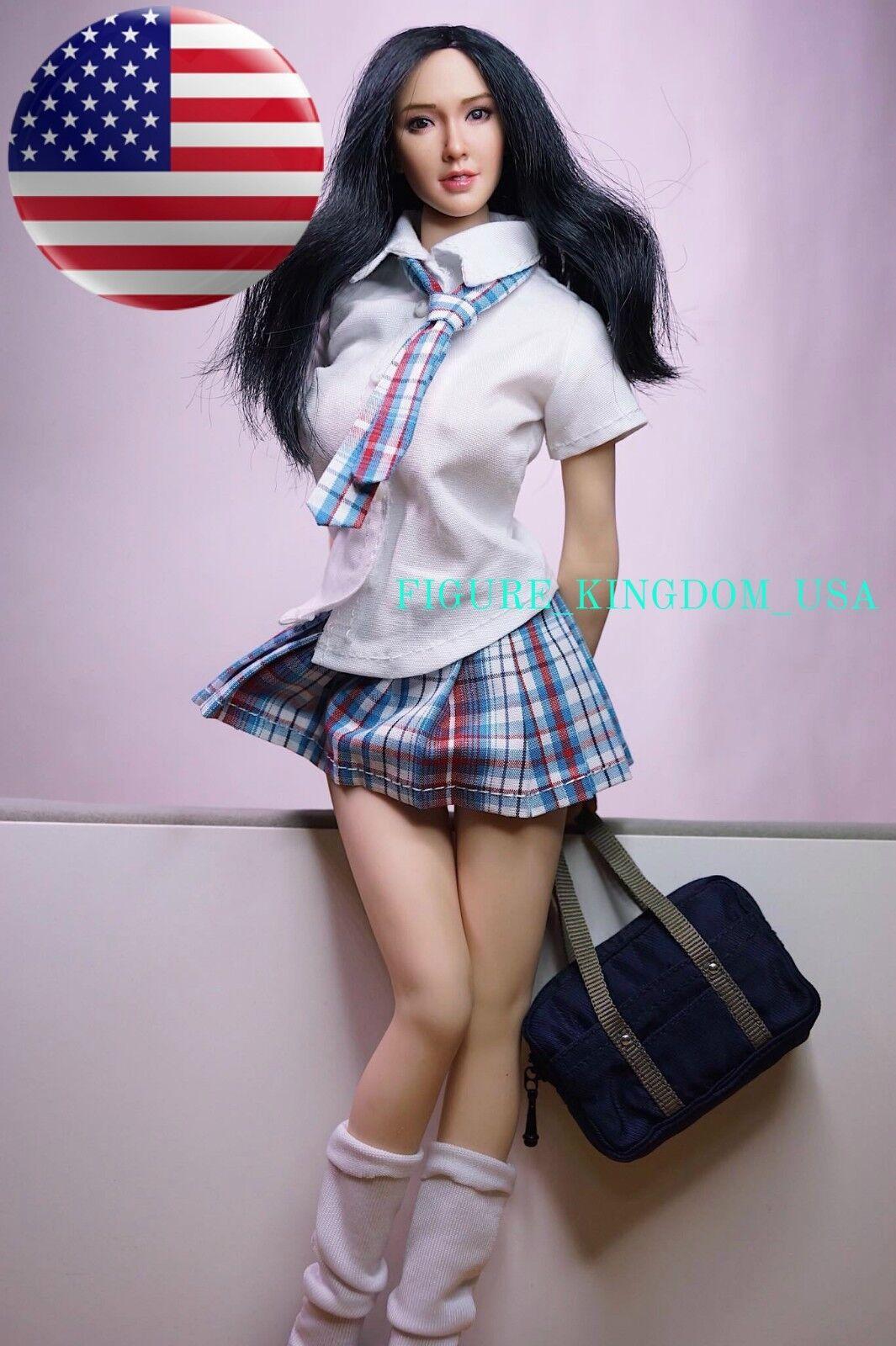 1 6 School Girl Uniform Skirt Set For 12    PHICEN Hot Toys Female Figure USA 0d6abd