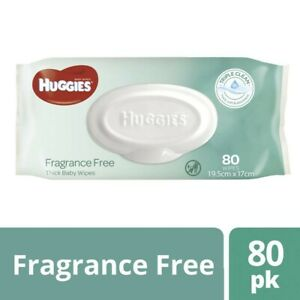 NEW-Huggies-Absorbent-Triple-Clean-Fragrance-Free-Thick-Baby-Wipes-80-Sheets