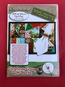 NEW-SEALED-Anita-Goodesign-Embroidery-CD-CHRISTMAS-CRAZY-QUILT-BLOCKS
