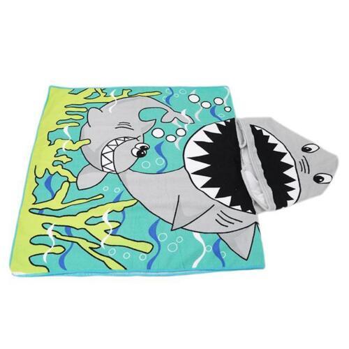 Hooded Beach Bath Poncho Towels Cloak Baby KIDS Cartoon Animal ...