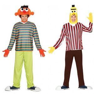 das bild wird geladen ernie bert herren kostuem gr m l verkleidung karneval