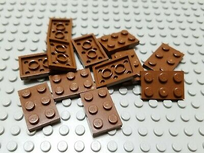 New LEGO Lot of 8 Reddish Brown 2x4 Flat Building Plate Pieces