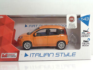 MondoMotors-53140-FIAT-Nuova-PANDA-034-Orange-034-METAL-Scala-1-43