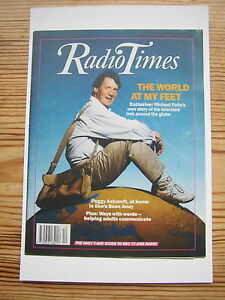 Postcard Radio Times cover October 1989 Michael Palin Around the world in 80 day - Hertfordshire, United Kingdom - Postcard Radio Times cover October 1989 Michael Palin Around the world in 80 day - Hertfordshire, United Kingdom