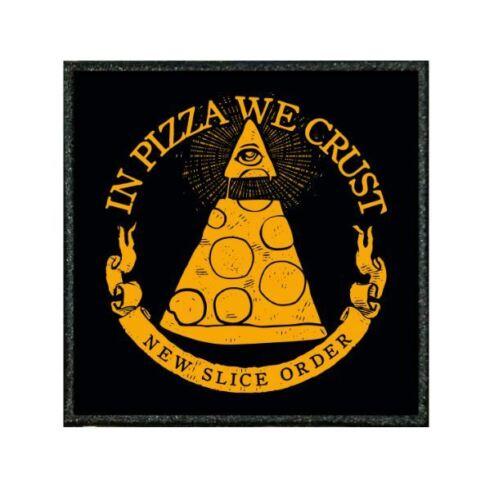 "054E Funny patch from our /""TIV/"" Range ILLUMINATI PIZZA"