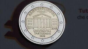 2 euro 2019 fdc ESTONIA 100 Universitas Tartu Estonie Estland Eesti Эстония
