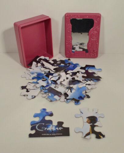 RARE 2008 Coraline Movie 49 Piece Puzzle /& Magic Mirror Case Hardee/'s Carl/'s Jr