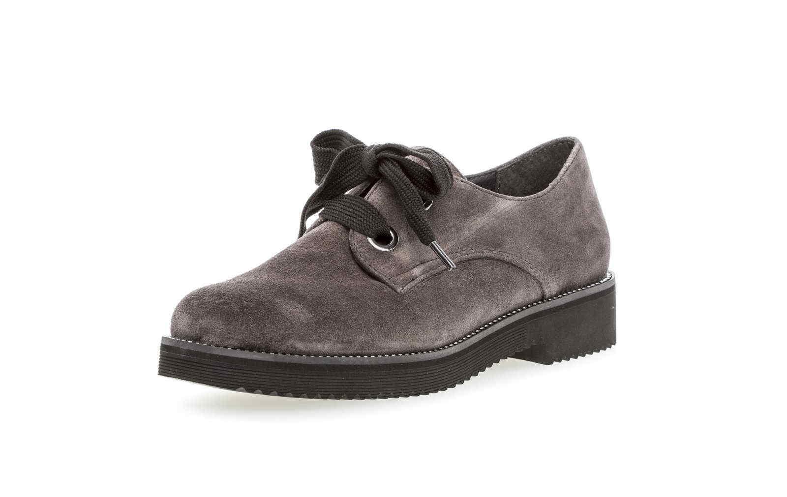 negozio di sconto Gabor mezza scarpa 665 39 grigio grigio grigio Nabuk Pelle Suola leggera Business Lacci  spedizione gratuita in tutto il mondo