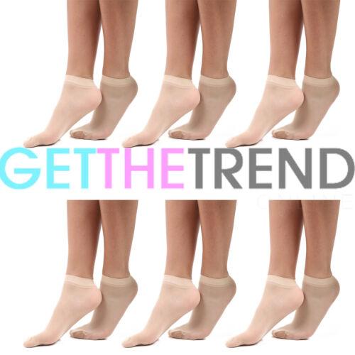 Womens 20 DENIER Ankle High Socks Trouser Pop Socks UK ONE Size 4-7 UK 3//6 pack