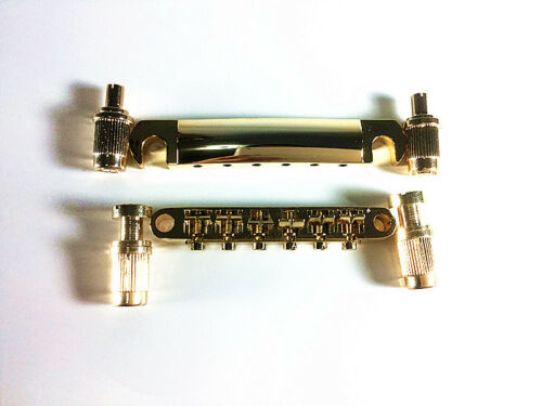 New Golden Bridge and Tailpiece Fit Gibson Guitar
