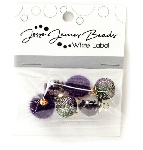 White Label Collection Bubbles Bauble Jesse James Beads PURPLE RAIN Beads