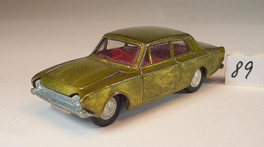 Mini Dinky Juguetes 1 65 nº 10 Ford Corsair Limousine verde oliva verde metalizado  089