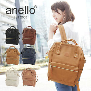 1888c59760 ANELLO Japan Faux Leather Tote Style Backpack Campus Rucksack Large ...