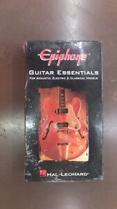 Epiphone Guitar Essentials Acoustic Electric Classical Hal Leonard Vhs New Instruction Books, Cds & Video Musical Instruments & Gear