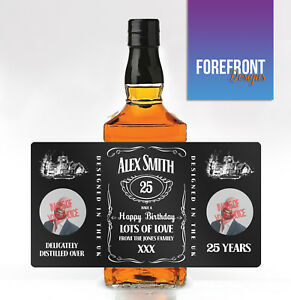 Personalised-Tennessee-Whiskey-Whisky-Bourbon-PHOTO-Bottle-Label-Birthday-Gift