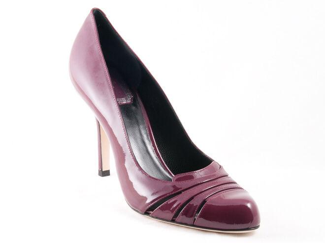Neu Christian Dior D Glam Pflaume Lackleder Schuhe 36.5