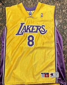 Details about KOBE BRYANT LOS ANGELES LAKERS CHAMPION #8 JERSEY SIZE 52 NEW W/O TAGS