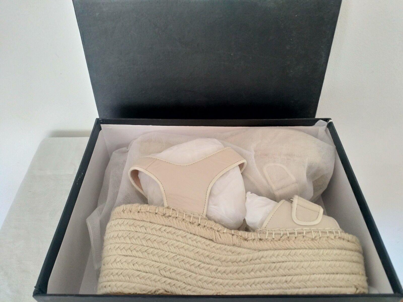 Emma Jacinto Alpargata Cuña Cuña Cuña Grueso Sandalias De Plataforma Desnuda real de cuero Talla 6  barato y de moda