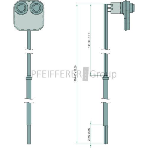 Front Plaque avec 2 interrupteurs complet F hydraulique de soupape