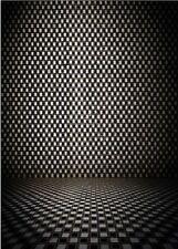 Black White Grid Maze Vinyl Photography Studio Backdrop Photo Background 5x7ft