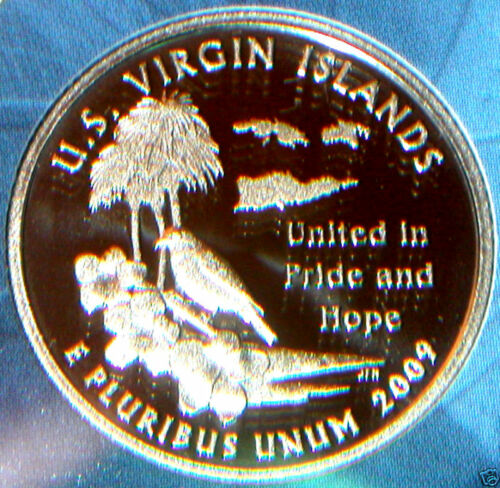 2009 S CLAD PROOF US VIRGIN ISLANDS TERRITORIAL QUARTER