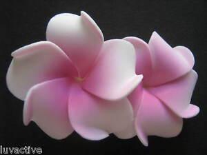 2 hawaiian plumeria flower foam hair clip pink white ebay image is loading 2 034 hawaiian plumeria flower foam hair clip mightylinksfo Choice Image