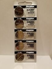 5 FRESH Genuine Energizer CR2025 ECR2025 3V Coin Button Batteries Fast Shipping